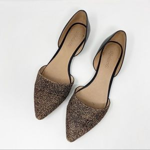 Madewell D'Orsay Pointed Toe Dotted Calf Hair Flat